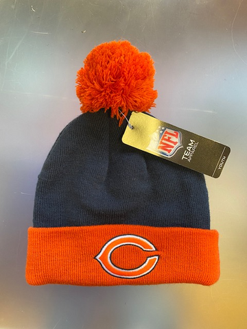 Chicago Bears NFL Youth Pom Knit Winter Hat -Blue/Orange