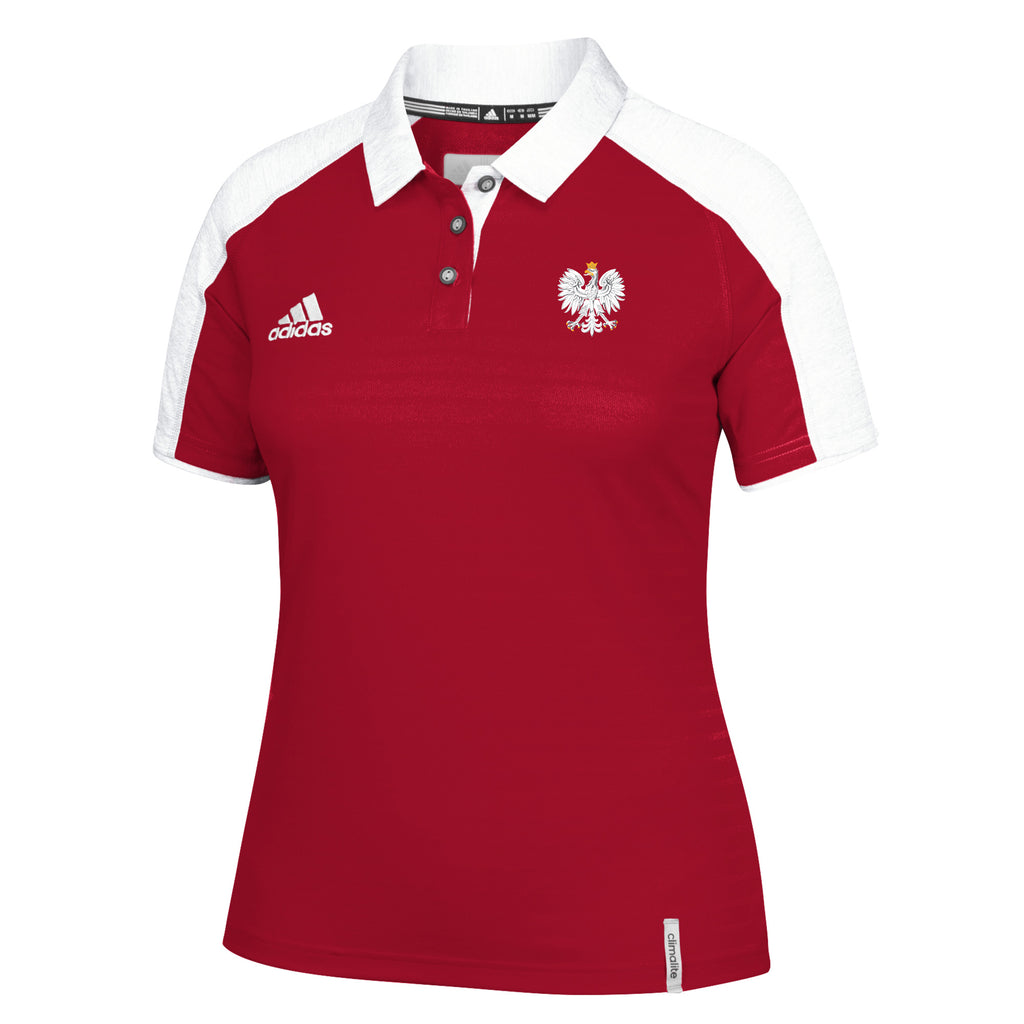 Adidas Women's Climalite Modern Varsity Polo with Eagle Polish Emblem Polska Poland