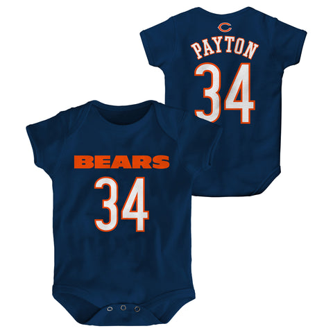 Infant Chicago Bears #34 Walter Payton Creeper NFL Onepiece Bodysuit