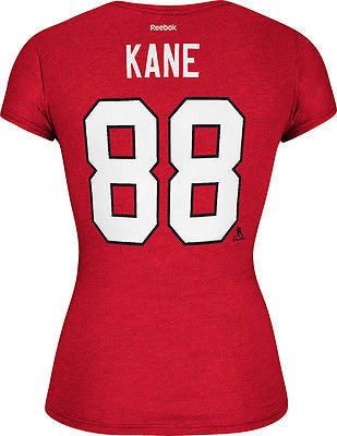 Women's Chicago Blackhawks Patrick Kane #88 Cap Sleeve T-Shirt NHL Reebok Tee