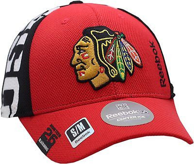 Chicago Blackhawks Hat Flex Fit Draft Structured Indian Head Logo