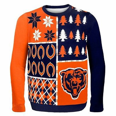 Youth Chicago Bears Busy Block Ugly Holiday Sweater Outerstuff NFL Official Pullover