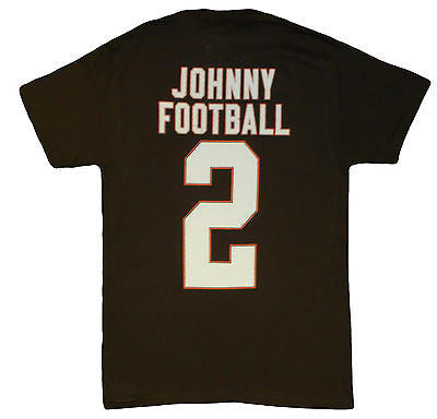 Cleveland Browns Johnny #2 Johnny Manziel T-Shirt NFL Team Pride Official Tee