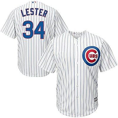Chicago Cubs Youth Jon Lester #34 Cool Base Home Stitched Jersey Majestic MLB