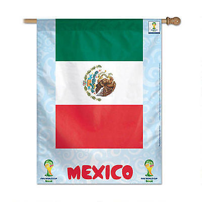"Mexico 2014 Fifa World Cup Brazil Vertical Flag 27"" x 37"" Country Banner"