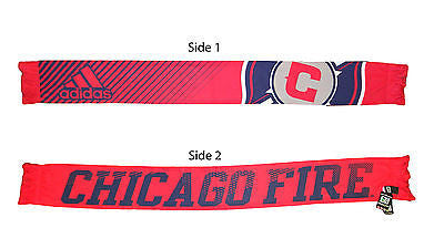 Chicago Fire Sublimated Paint Scarf Team Pride Adidas Officially Licensed