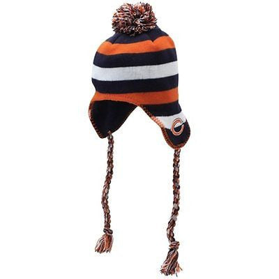 Chicago Bears Youth Knit Hat Pom & Tassles NFL Officially Licensed