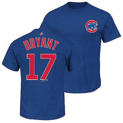 Chicago Cubs Youth Kris Bryant #17 Jersey Style T-Shirt Majestic Official Tee
