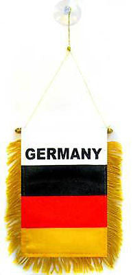 "Germany German National Mini Flag Banner 4""x6"" Country Pride Car / Truck Window"