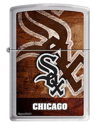 Chicago White Sox Zippo Lighter MLB Official Season Z911 - E13 Chrome Baseball
