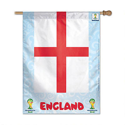 "England 2014 Fifa World Cup Brazil Vertical Flag 27"" x 37"" Country Banner"