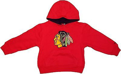 Chicago Blackhawks Toddler Childern's Red Basic Logo Hoodie NHL Reebok Official