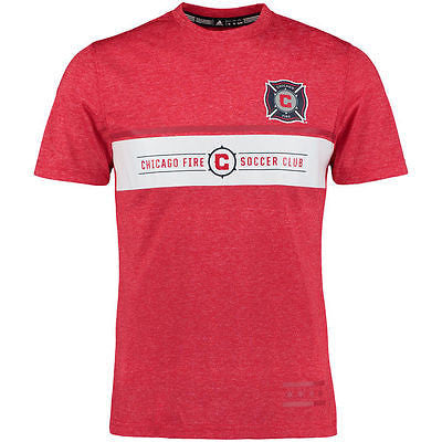 Youth Chicago Fire SC Climalite T-Shirt MLS Adidas Official Jersey Tee