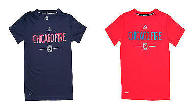 Youth Chicago Fire Jersey Style Climalite T-Shirt MLS Soccer Adidas Official Tee
