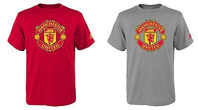 d565642ea7c95 Youth Manchester United Football Club Red Devils T-Shirt Official Adidas Tee
