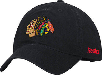 Chicago Blackhawks Primary Logo Adjustable Slouch Hat NHL Reebok Official Cap