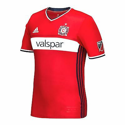 Men's Chicago Fire SC 2016 adidas Red Authentic Primary Jersey