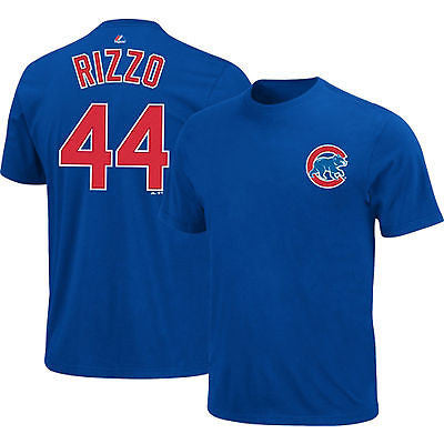 Chicago Cubs Youth #44 Anthony Rizzo Jersey Style Royal T-Shirt MLB Official Tee