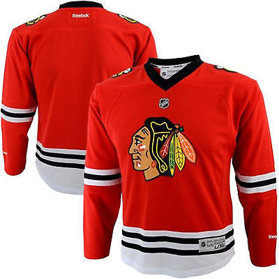 Youth Chicago Blackhawks Jersey Replica Printed NHL Team Reebok Official