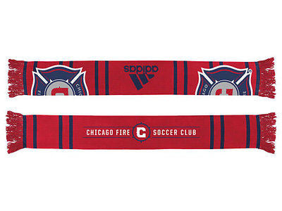 Chicago Fire SC Team Wordmark Scarf MLS Team Pride Adidas Officially Licensed