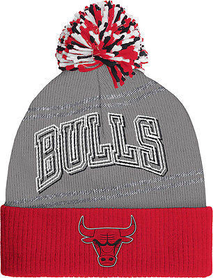 Women's Chicago Bulls Team Logo Cuffed Knit Pom Hat NBA Adidas Official Beanie