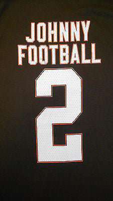 b29dbed7aca3 ... Cleveland Browns Johnny #2 Johnny Manziel T-Shirt NFL Team Pride  Official Tee