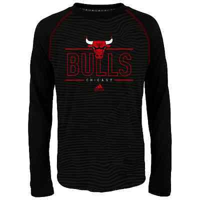 Youth Chicago Bulls Energy Stripe Climalite Long Sleeve T-Shirt NBA Adidas Tee