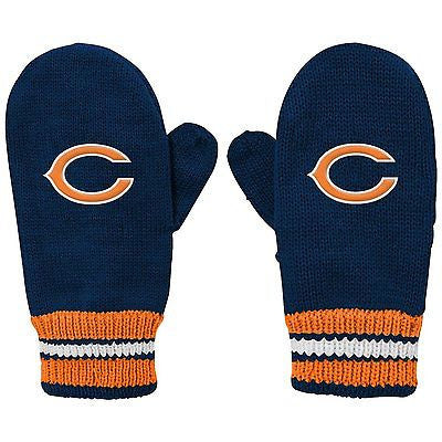 "Youth Chicago Bears ""Go Bears"" Embroidered Mittens NFL Official Logo Gloves"
