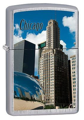 Chicago Millennium Park Brushed Chrome Zippo Made in USA Windproof Lighter Z101