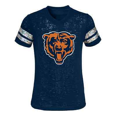 Youth Girls Chicago Bears Opal Burnout T-Shirt Outerstuff NFL Official Tee
