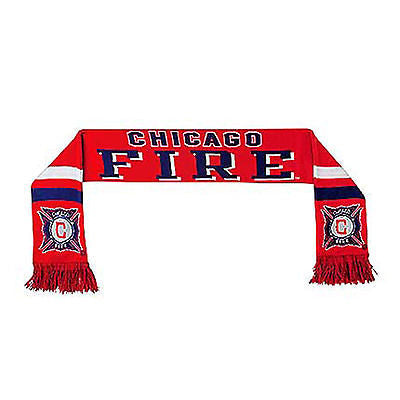 Youth Chicago Fire Knit Scarf MLS Adidas Officially Licensed Team Pride