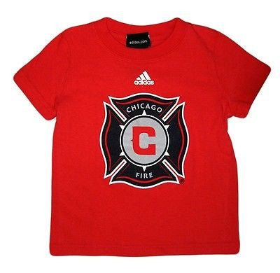 Chicago Fire T-Shirt Official Licensed MLS Soccer Adidas Cotton Top Shirt