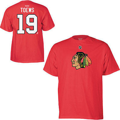Youth Chicago Blackhawks #19 Jonathan Toews T-Shirt NHL Reebok Team Official Tee