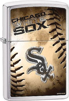 Chicago White Sox Zippo Lighter MLB Official Season Z914 - G13 Chrome Baseball