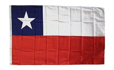 "Chile Flag 3"" x 5""  Chile Country Pride Polyester Banner - Brass Grommets"