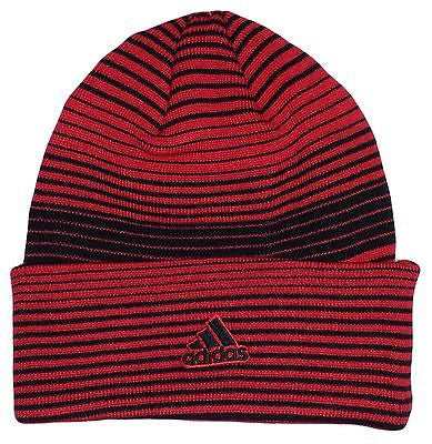 Chicago Bulls Striped Beanie Cuffed Knit NBA Adidas Officially Licensed Hat