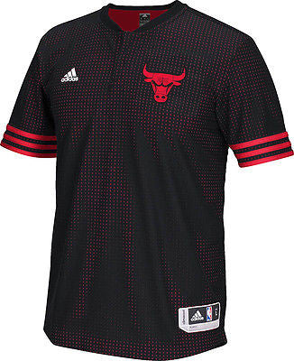 Youth Chicago Bulls 2015 On-Court Authentic S/S Shooting T-Shirt Adidas NBA Tee