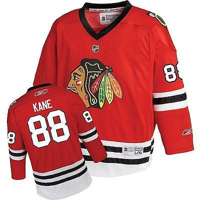 Youth Chicago Blackhawks #88 Patrick Kane Replica Printed Jersey NHL Reebok