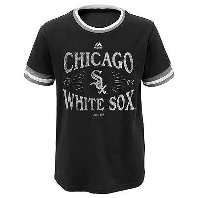 Chicago White Sox Girls Majestic Round The Bases Ringer Tee