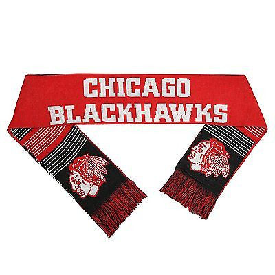 Chicago Blackhawks Split Logo Team Scarf NHL Officially Licensed