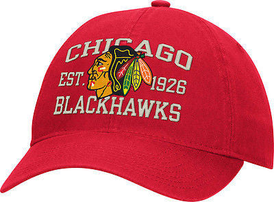 Youth Chicago Blackhawks Logo Adjustable Slouch Hat Reebok NHL Official Cap