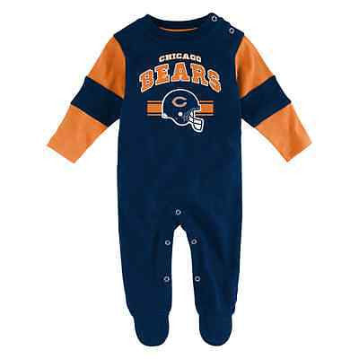 Infant Chicago Bears Football Team Believer Bodysuit NFL Creeper Coverall