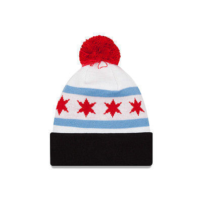 ae49ec072d3 ... Chicago Bulls New Era City Factor Cuffed Knit Hat with Pom NBA Official  Beanie