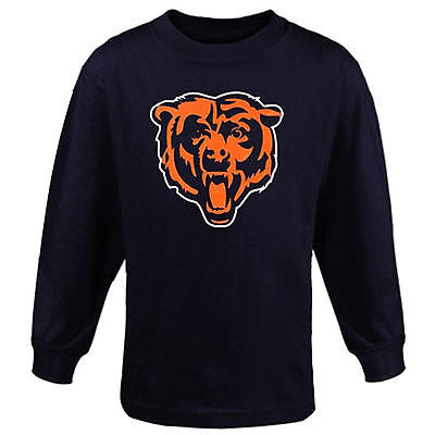 Youth Chicago Bears Hype Logo Long Sleeve T-Shirt NFL Officially Licensed Tee