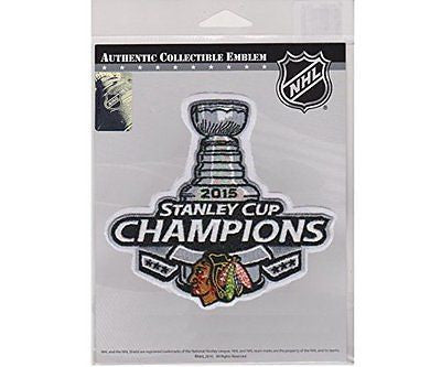Chicago Blackhawks 2015 Stanley Cup Champions Patch Authentic Collectible Emblem