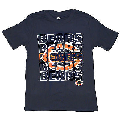 "Youth Chicago Bears "" C "" Logo T-Shirt NFL Team Pride Officially Licensed Tee"