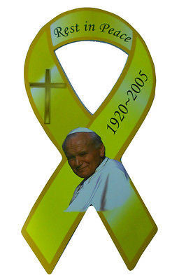 John Paul II 1920 - 2005 Rest In Peace Memorial Religious Ribbon Magnet Style 3
