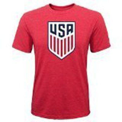 World Cup Soccer United States Youth Girl's 8-20 Team Logo Short Sleeve Tee