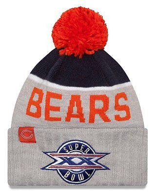 Chicago Bears New Era NFL Super Bowl XX Logo Gray Sport Knit Hat