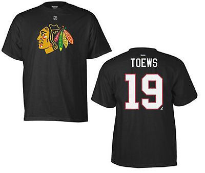 Youth Chicago Blackhawks #19 Jonathan Toews T-Shirt Reebok Official Licensed Tee